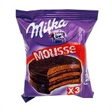 Alfajor Milka Tri Mousse Chocolate - 3 Unidades