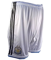 Argentina National Soccer Team Shorts 2014 (White)